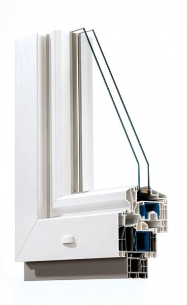 Kunststofffenster 88 2-fach Verglasung